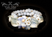 Blue Beaded Bracelet in the Miriam Haskell Style - 1950s - 1960s